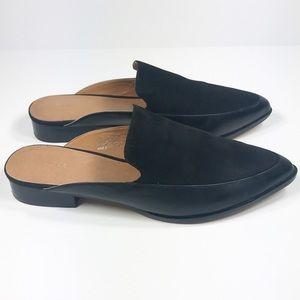 102b458680d Halogen Shoes - Halogen Corbin Black Suede Leather Mules Size 7